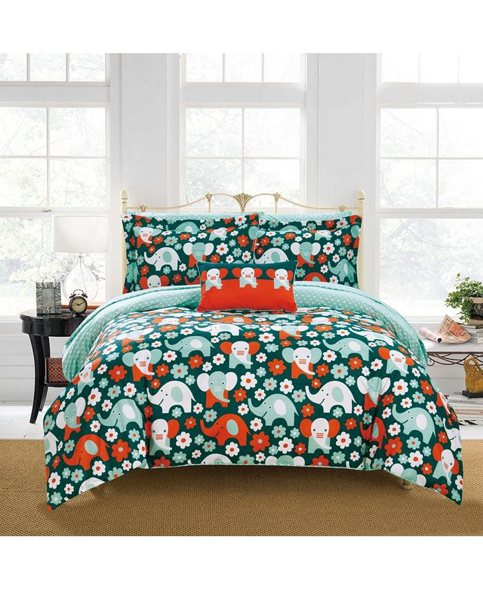 Chic Home - Elephant Reprise 8-Pc. Bed In a Bag Comforter Sets