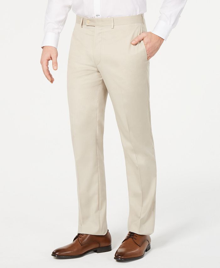 Calvin Klein - Men's Slim-Fit Performance Stretch Wrinkle-Resistant Solid Dress Pants