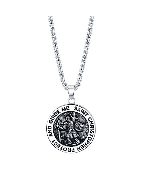 He Rocks Saint Christopher Coin Pendant Necklace In Stainless Steel 24 Chain Reviews Necklaces Jewelry Watches Macy S 5,798,945 likes · 5,312 talking about this. saint christopher coin pendant necklace in stainless steel 24 chain