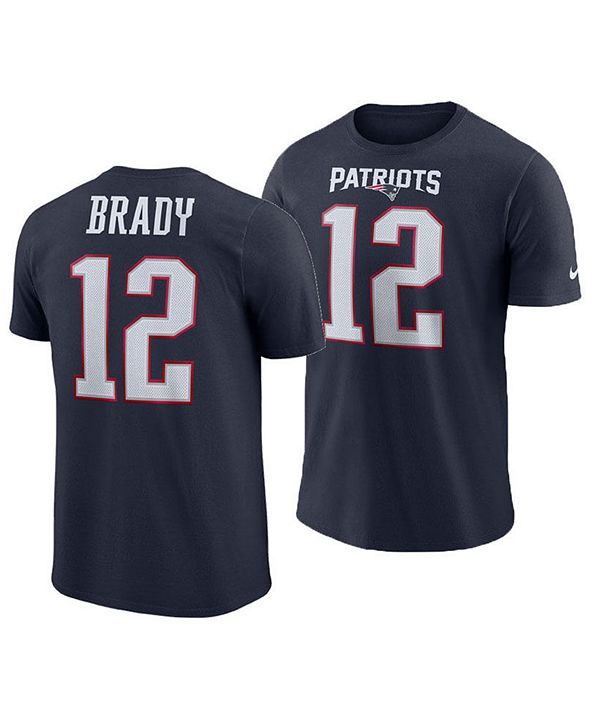 Nike Men's Tom Brady New England Patriots Player Pride Name and Number T-Shirt
