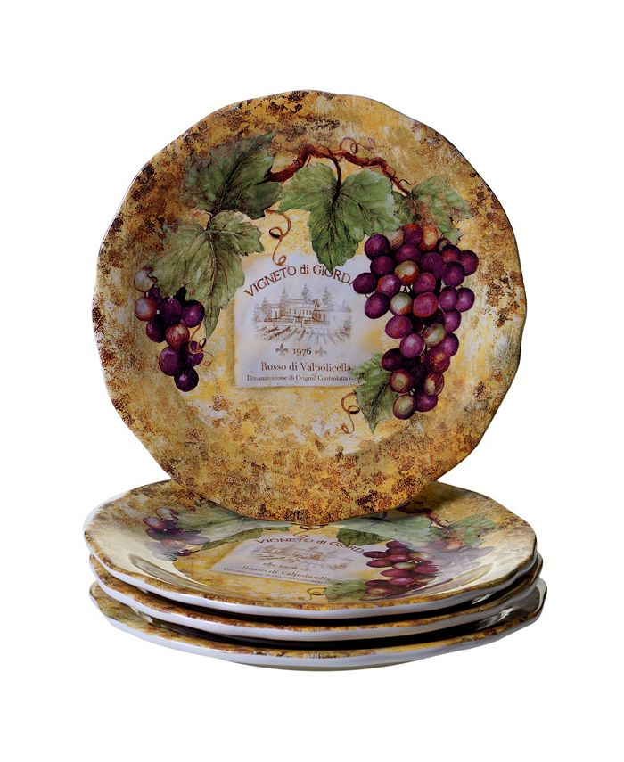 Certified International - Gilded Wine 4pc Dinner Plate