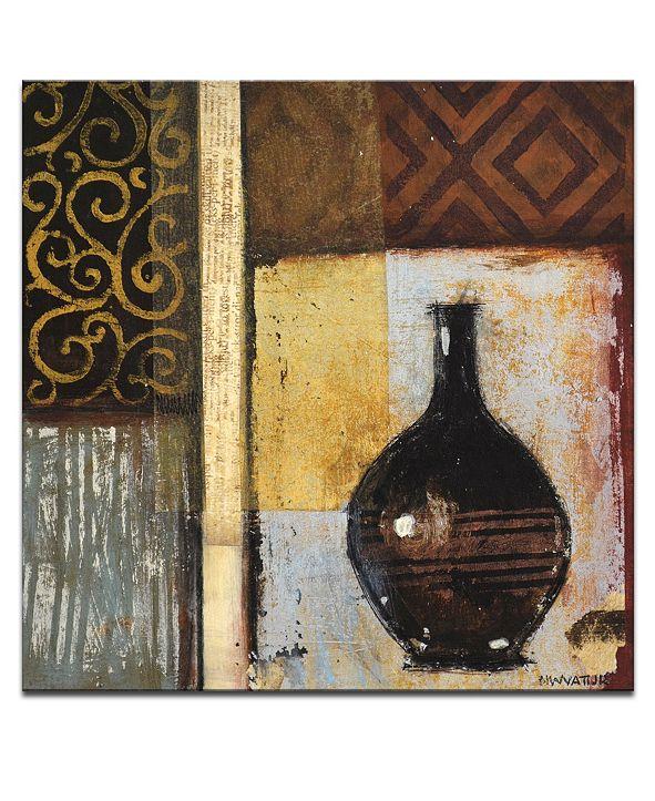 "Ready2HangArt 'Ancient Vase I' Abstract Canvas Wall Art, 12x12"""
