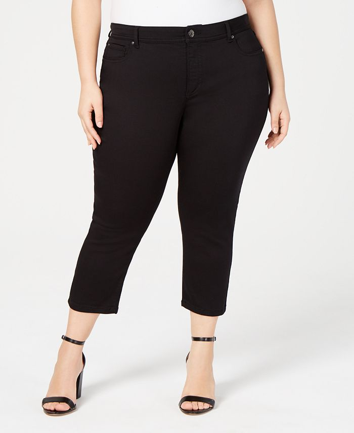INC International Concepts - Plus Size INCFinity Cropped Skinny Jeans