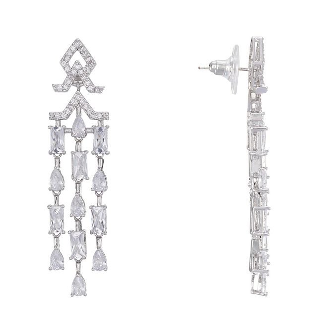 Nina Mini Cubic Zirconia  Chandelier Earrings