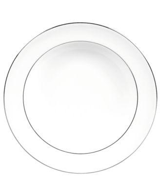 Vera Wang Wedgwood Dinnerware, Blanc sur Blanc Rim Soup Bowl