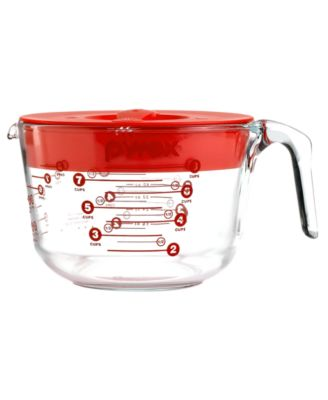 Pyrex Covered Measuring Cup 8 Cup Glass