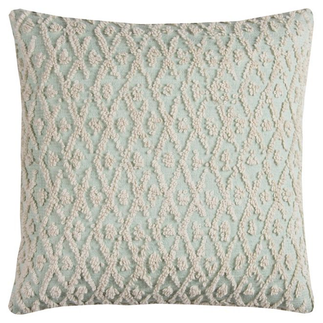 """Rizzy Home 20"""" x 20"""" Textured Pillow Cover"""