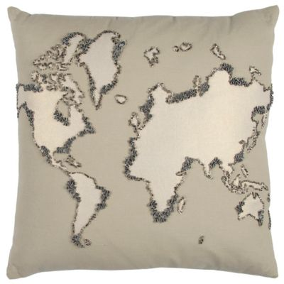 """20"""" x 20"""" World Map Pillow Cover"""