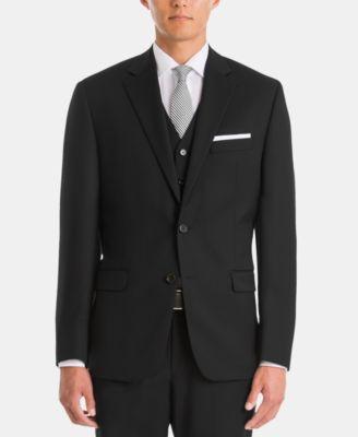 Men's UltraFlex Classic-Fit Black Wool Jacket