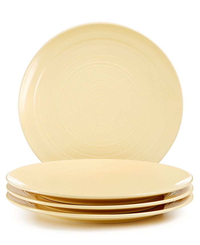 Martha Stewart Collection - Color Striping Dinner Plates, Set of 4