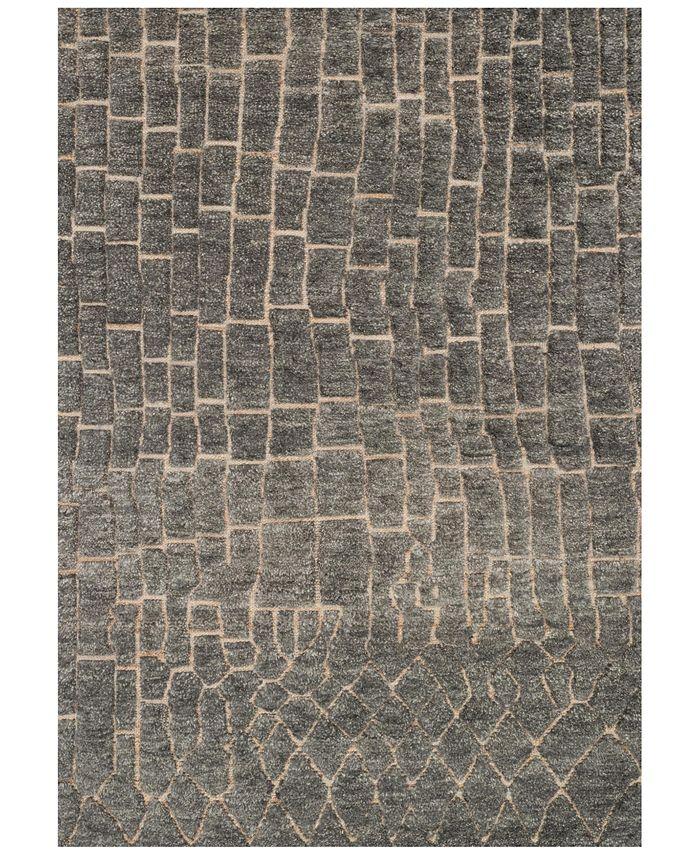"Loloi - Tanzania - Hemingway TN-03 Slate 5'6"" x 8'6"" Area Rug"