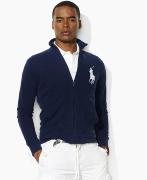 Polo Ralph Lauren Jacket, Big and Tall Mesh Big Pony Track Jacket