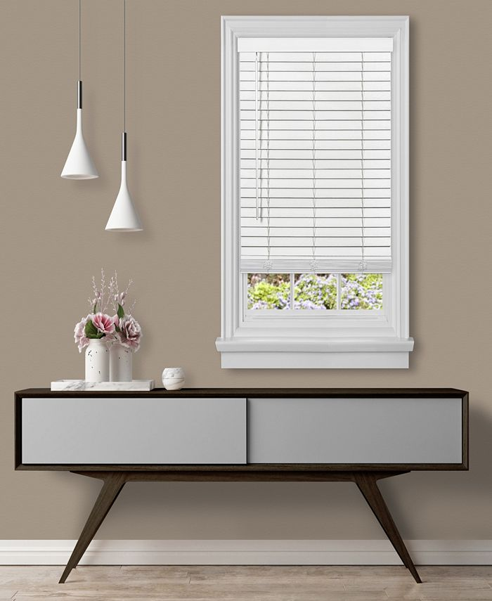 "Achim - Cordless GII Madera Falsa 2"" Faux Wood Plantation Blind 46x64 - White"