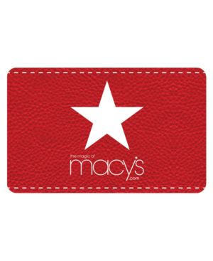 Macy's Red Star Texture Gift Card with Letter