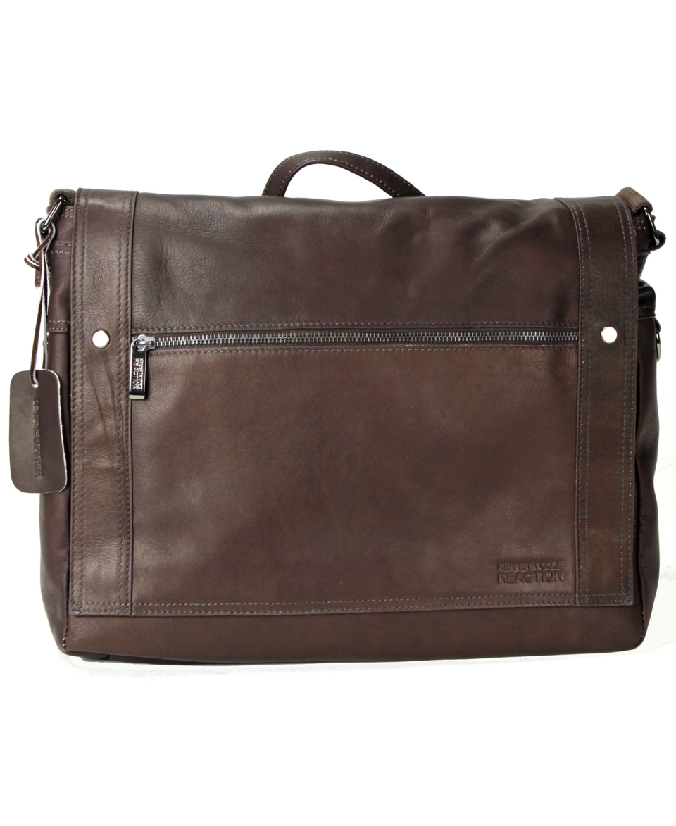 Kenneth Cole Reaction Colombian Leather Messenger Bag   Wallets & Accessories   Men