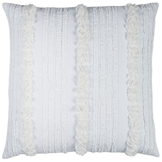 "Rizzy Home 20"" x 20"" Vertical Deconstructed Stripe Pillow Down Filled"
