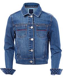 Tommy Hilfiger Toddler Girls Embroidered Denim Jacket