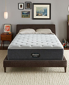 "Beautyrest Silver BRS900-C-TSS 14.5"" Plush Tight Top Mattress - Queen, Created for Macy's"