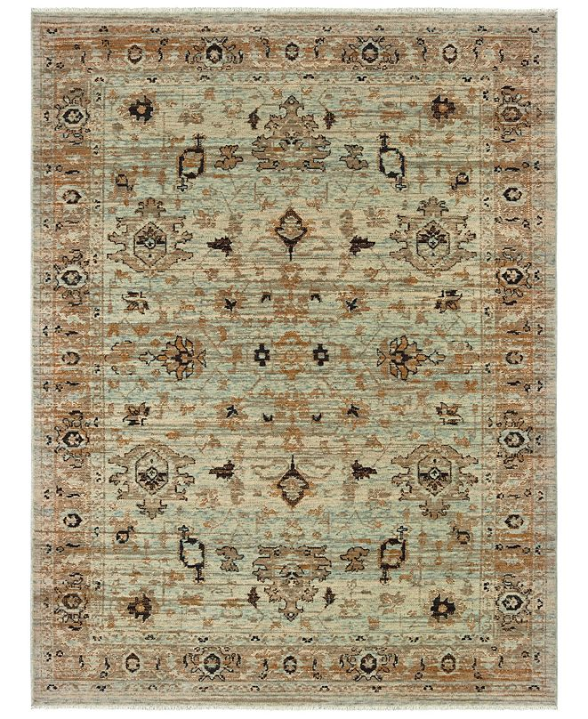 "Oriental Weavers Anatolia 8020H Blue/Gold 7'10"" x 10'10"" Area Rug"