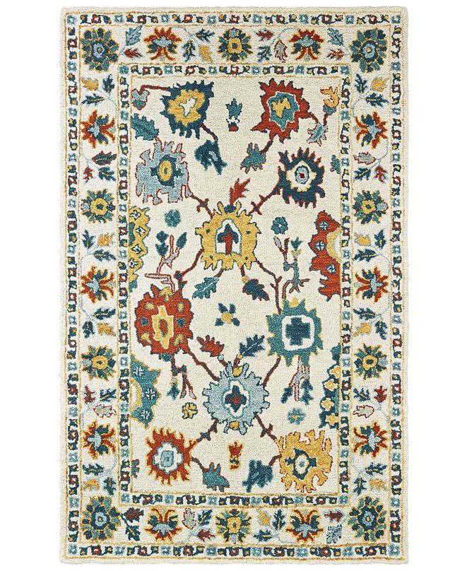 Oriental Weavers Zahra 75507 Ivory/Gold 10' x 13' Area Rug