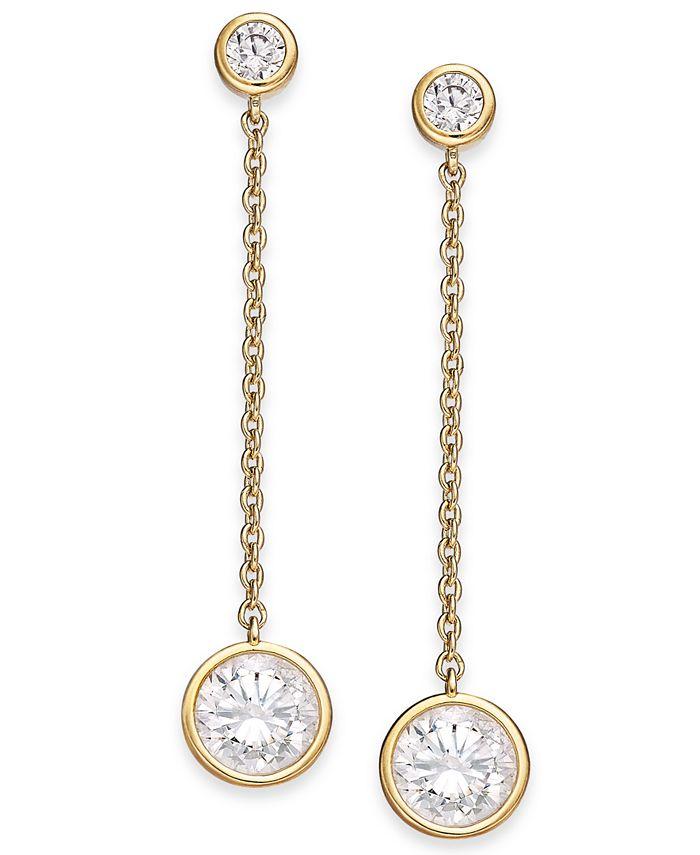 Eliot Danori - Crystal Linear Drop Earrings