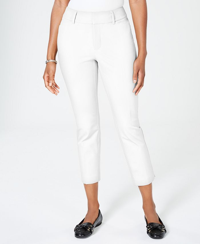 Charter Club - Newport Tummy-Control Cropped Pants