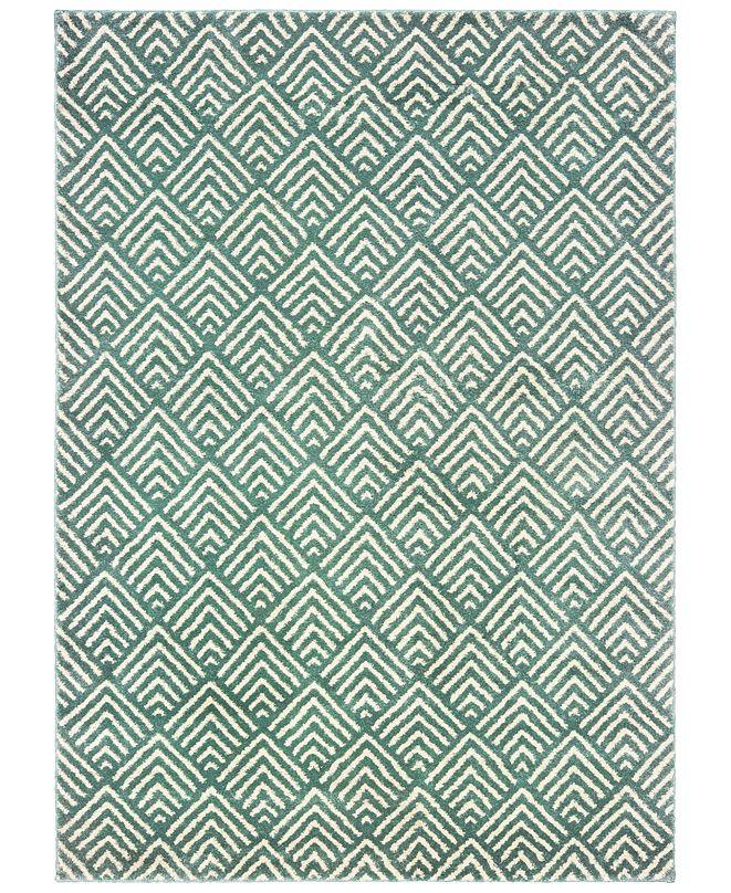 "Oriental Weavers Carson 9667C Blue/Ivory 3'10"" x 5'5"" Area Rug"