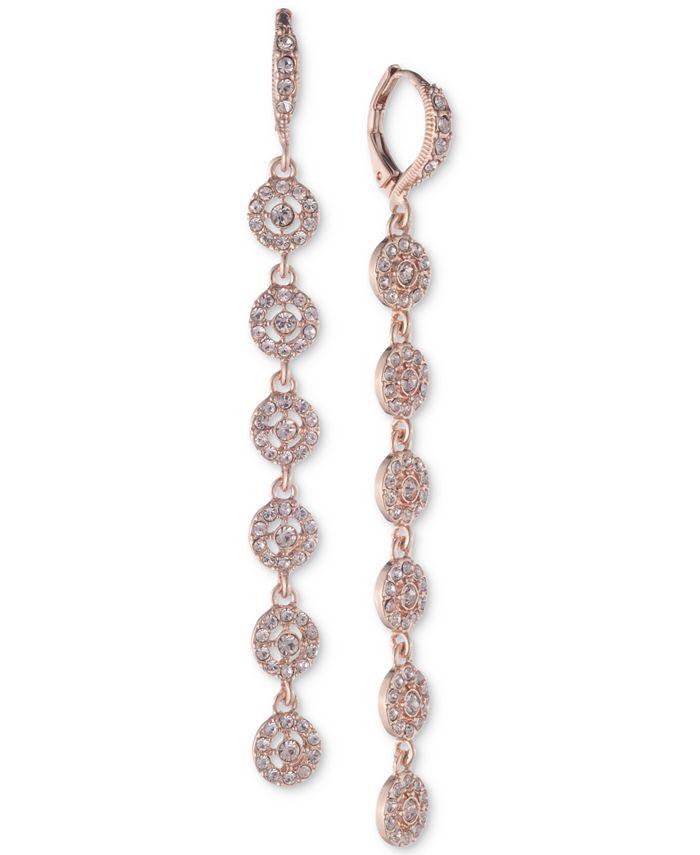 Givenchy - Crystal Halo Linear Drop Earrings