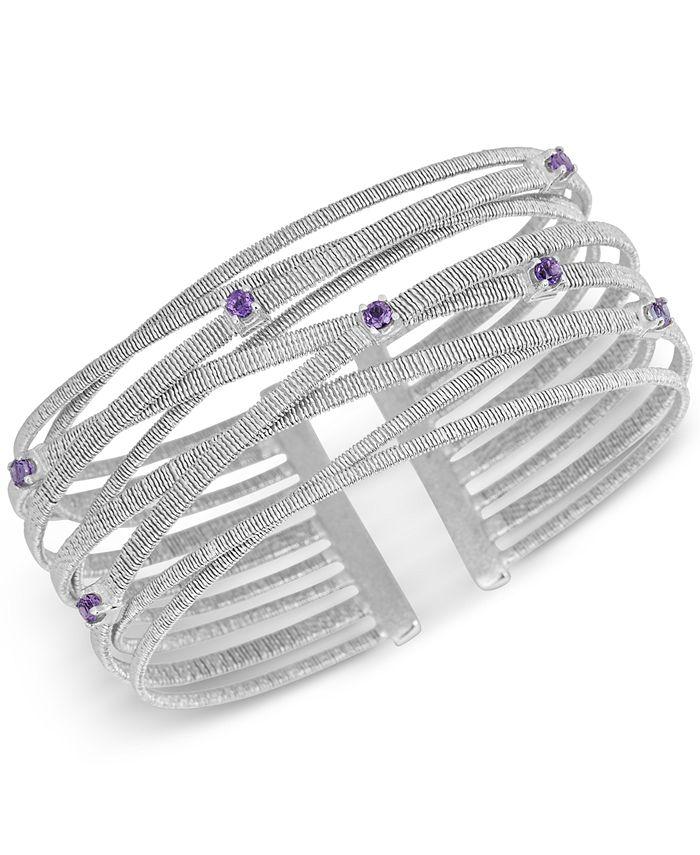 Macy's - Amethyst (1/2 ct. t.w.) Bracelet in Sterling Silver