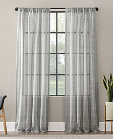 Clean Window Textured Slub Stripe Anti-Dust Curtain Panel Collection