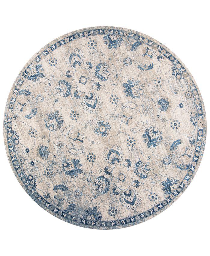 """Kas - Seville Sutton 9480 Grey/Blue 7'7"""" Round Area Rug"""