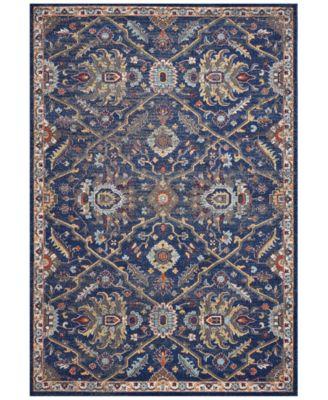 """Corsica Courtyard 7859 Royal Blue 3'3"""" x 4'11"""" Area Rug"""
