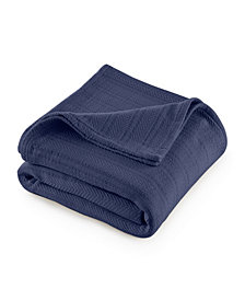 Vellux Cotton Textured Chevron Woven King Blanket
