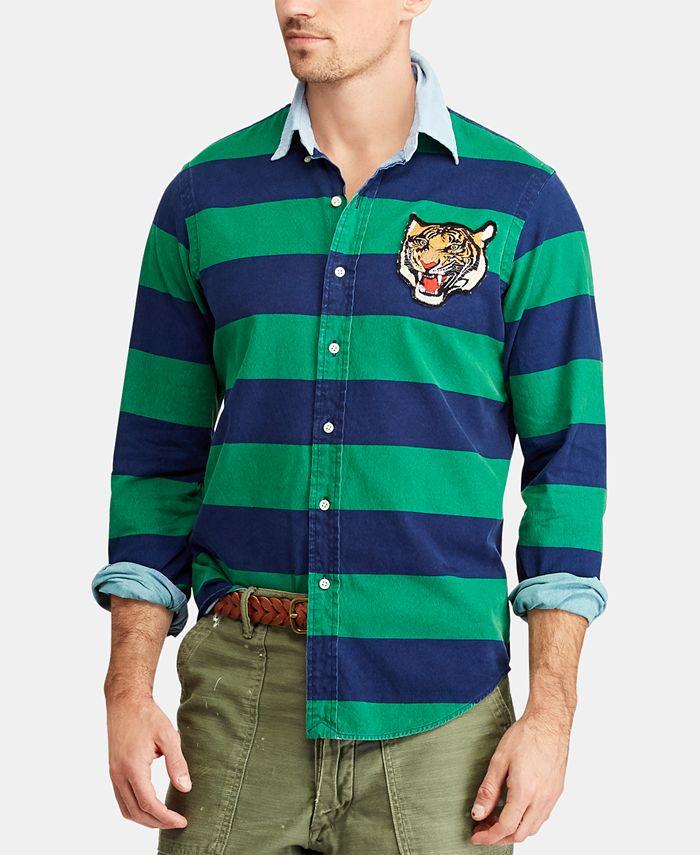 Polo Ralph Lauren Men's Classic-Fit Tiger Patch Shirt & Reviews ...