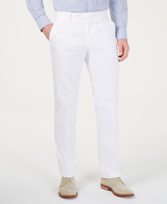 Tommy Hilfiger - Men's Modern-Fit THFlex Stretch Chambray Suit Pants