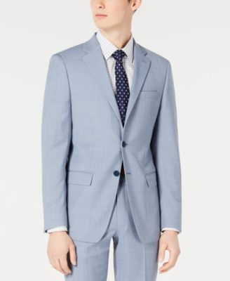 Men's X-Fit Slim-Fit Light Blue Sharkskin Suit Jacket