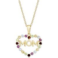 Macy's Multi-Gemstone Mom Heart 18