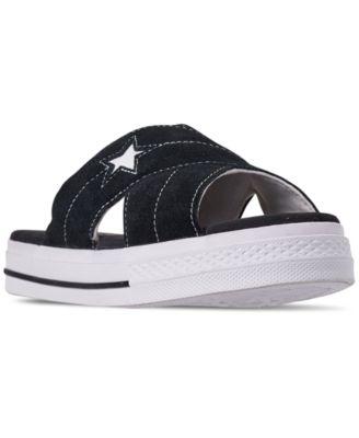 One Star Slip Athletic Slide Sandals