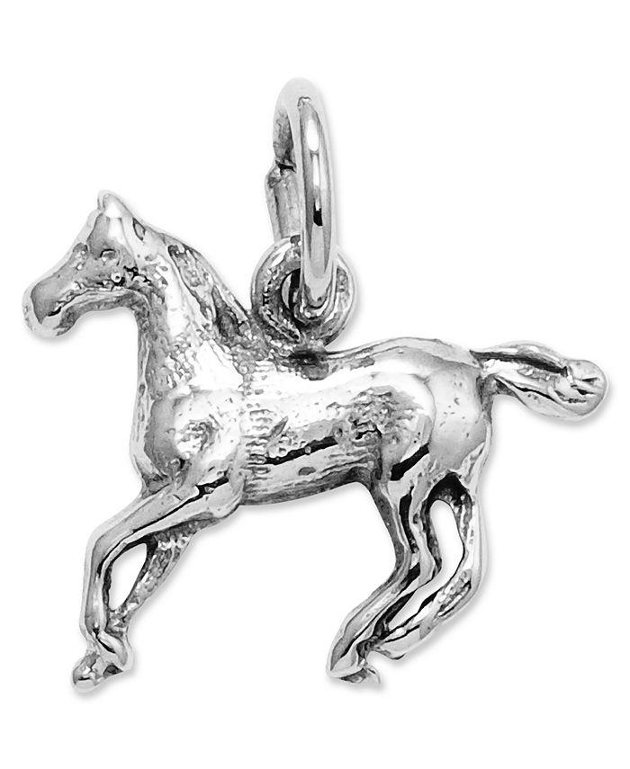 Macy's - 14k White Gold Charm, Horse Charm