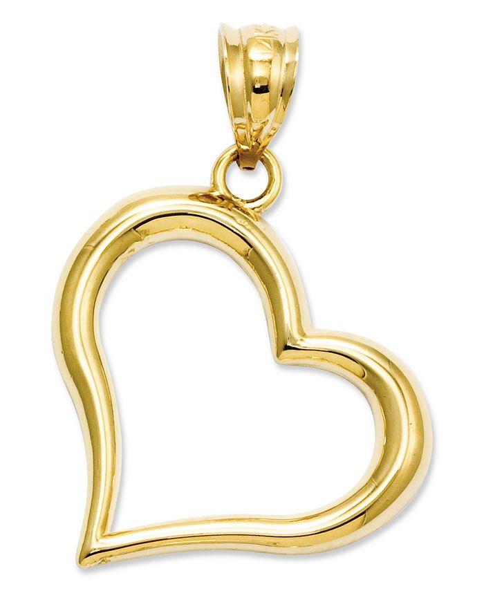 Macy's - 14k Gold Charm, Open Heart Charm