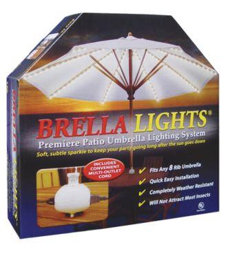 BRELLA LIGHTS - Patio Umbrella Lighting System With Power Pod, 8-Rib Model