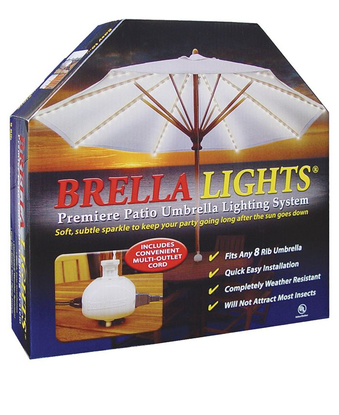 Blue Star Group - BRELLA LIGHTS - Patio Umbrella Lighting System With Power Pod, 8-Rib Model