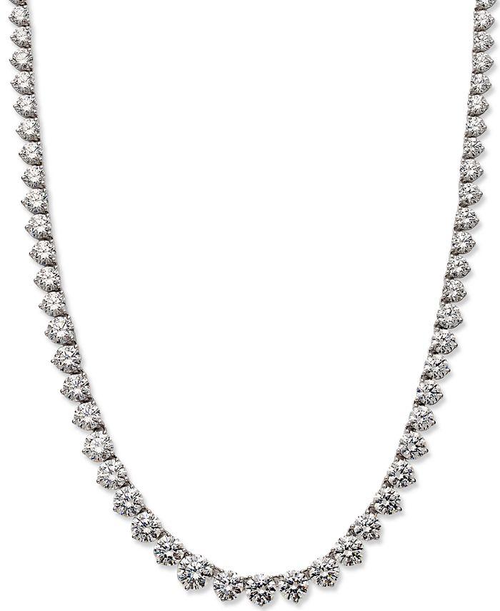 Arabella - Sterling Silver Necklace, Swarovski Zirconia Necklace (53 ct. t.w.)