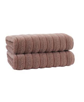 Vague 2-Pc. Bath Sheets Turkish Cotton Towel Set