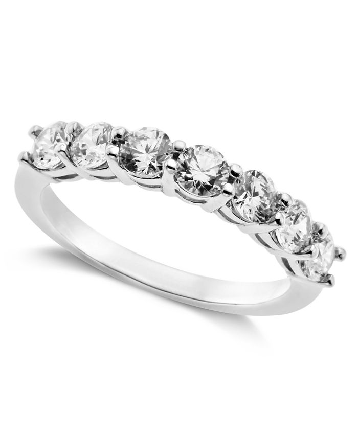 Arabella - Sterling Silver Ring, Swarovski Zirconia 7-Stone Ring (2-1/6 ct. t.w.)