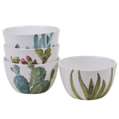 Certified International Cactus Verde 4-Pc. Ice Cream Bowl
