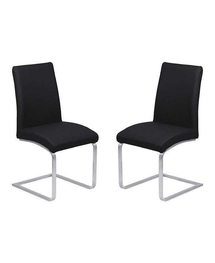Armen Living - Blanca Dining Chair (Set of 2), Quick Ship