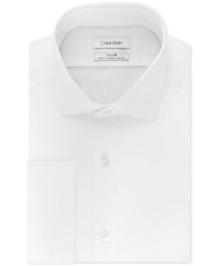 Calvin Klein - Men's Slim-Fit French-Cuff Shirt