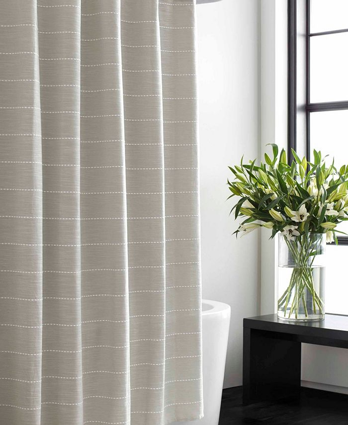 Vera Wang - Slub Stripe Shower Curtain