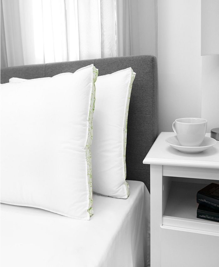 EcoPEDIC - Firm Density Jumbo Pillow with Cotton Cover 2-Pack